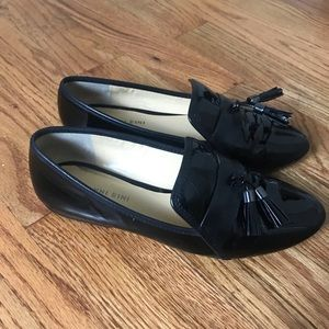Gianni Bini Black Patent Loafers